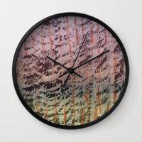 tigger Wall Clocks featuring Tigger Tigger  by Chelhsea Jefferson
