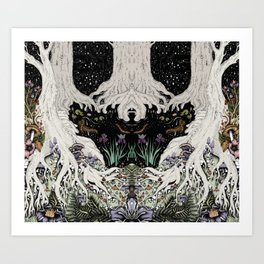 Starry Forest Art Print