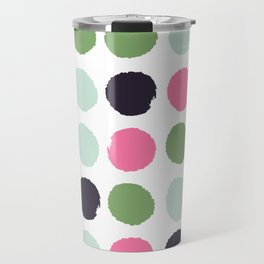 Painted dots minimal colorful pattern polka dots nursery baby decor Travel Mug