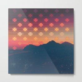 Faraway Mountains Metal Print