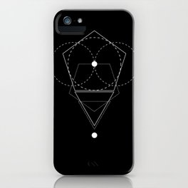 Rhombus Moon Black Geometry iPhone Case