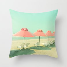 Pink Row II Throw Pillow