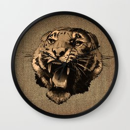 Vintage Tiger Wall Clock