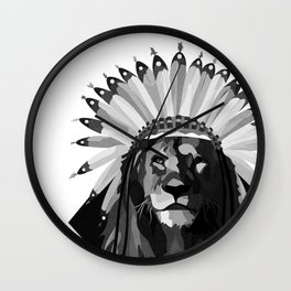 Kneel Before Your King Wall Clock