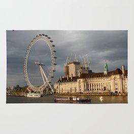 The London Eye On The South Bank Rug