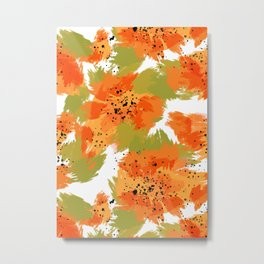 Papaya Explosion #society6 #papaya Metal Print