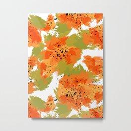 Papaya Explosion Metal Print