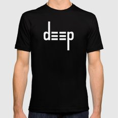 DEEP - Ambigram series (Black) Mens Fitted Tee Black MEDIUM