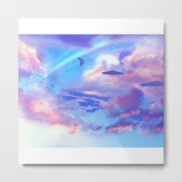 into the skies Metal Print
