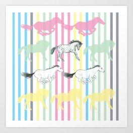 Carousel Horses 02 Art Print