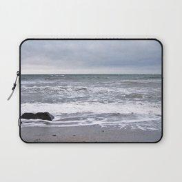 Cloudy Day on the Beach Laptop Sleeve
