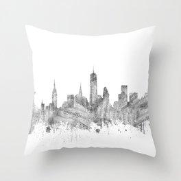 new york skyline music Throw Pillow