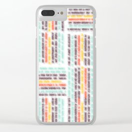 Blurred lines Clear iPhone Case