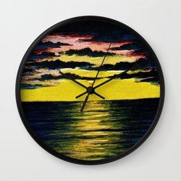 California Sunset by Granville Redmond Wall Clock