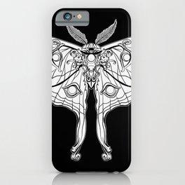 Art Nouveau Moth (black background) iPhone Case