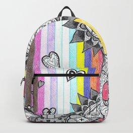 Striped Flower Backpack