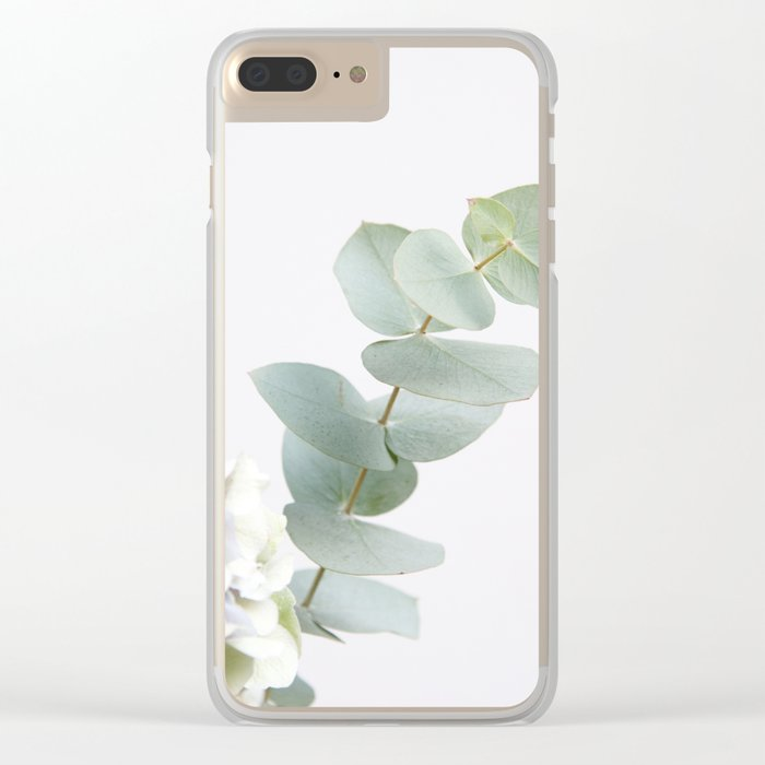 Gentle Soft Green Leaves #1 #decor #art #society6 Clear iPhone Case