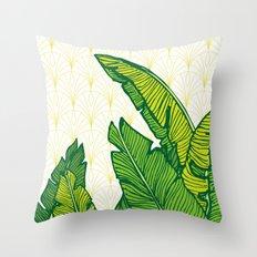 Tropical Leaves #society6 #decor #buyart Throw Pillow