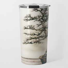 Chinese Elm Bonsai in Winter Travel Mug