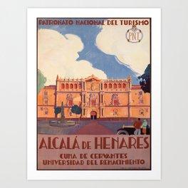 Advertisement alcala de henares pnt cuna de Art Print
