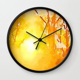 Solitude is independence. Wall Clock