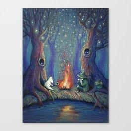 Moomin's night Canvas Print