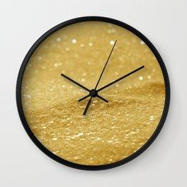 Glitter Gold Wall Clock