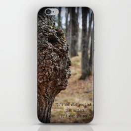 Face in Tree ~ What You See  iPhone Skin
