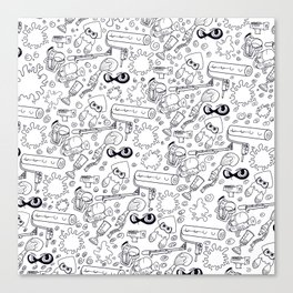 Splats 'n Guns Canvas Print
