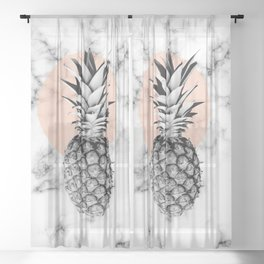 Marble Pineapple 053 Sheer Curtain
