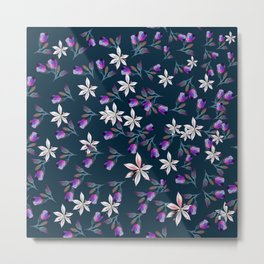 Beautiful pattern design with flowers in vintage style Metal Print