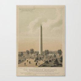 Vintage Washington Monument Illustration (1886) Canvas Print