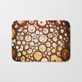 Oil on Water Bubble Abstract III Bath Mat