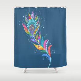 One Feather ... One World Shower Curtain