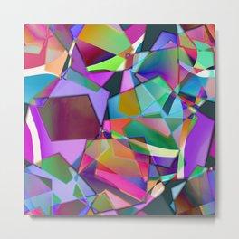 Lilac Patchwork Metal Print