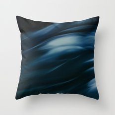 Storm in blue Throw Pillow