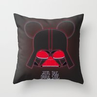 vader Throw Pillows featuring Vader  by danvinci