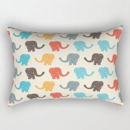 Seamless Vintage Graphic Elephants Rectangular Pillow