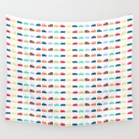 cars Wall Tapestries featuring Cars by Yasmina Baggili