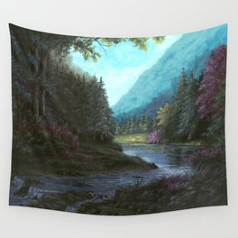 Mountain Valley Wall Tapestry