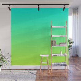 Lime & Blue Color Gradient Wall Mural