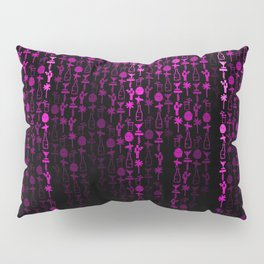 Bright Neon Pink Digital Cocktail Party Pillow Sham