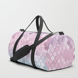 Mermaid Glitter Scales #2 #shiny #decor #art #society6 Duffle Bag