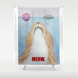Meows. Shower Curtain
