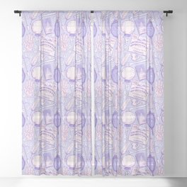 Divination in Pastel Purple Sheer Curtain