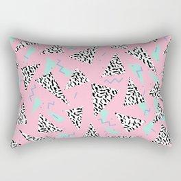 Geometric Minimal pastel modern pattern design triangle memphis basic nursery decor Rectangular Pillow