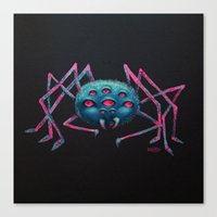 spider Canvas Prints featuring Spider by AlexTroi