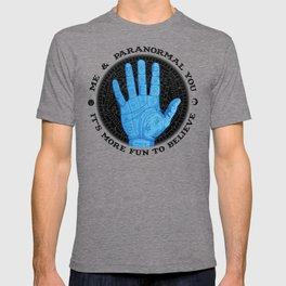 Me & Paranormal You - James Roper Design - Palmistry (black lettering) T-shirt