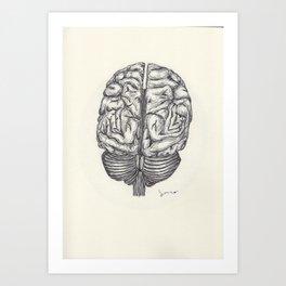 BALLPEN BRAIN 1 Art Print