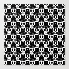 Skulls & Cats Canvas Print